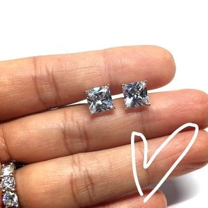 Sterling Silver Crystal CZ Stud Earring